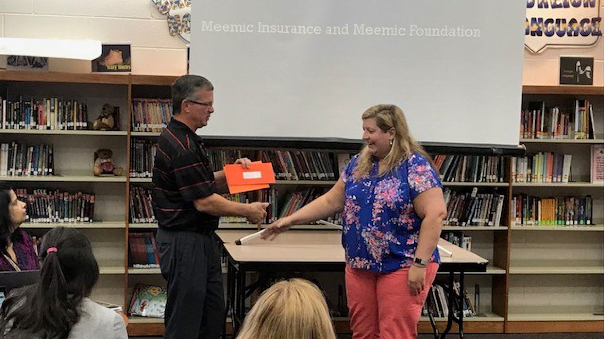 Ms. Neugebauer receiving Meemic Foundation Grant